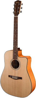 GUITARE ELECTRO-ACOUSTIQUE AC120CE DREADNOUGHT EN ETUI EASTMAN