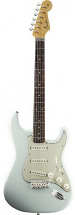 STRATOCASTER AMERICAN VINTAGE '59 ROUND-LAM FINGERBOARD FADED SONIC BLUE FENDER USA