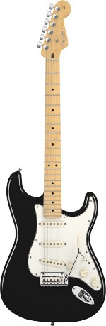 STRATOCASTER AMERICAN STANDARD BLACK TOUCHE MAPLE
