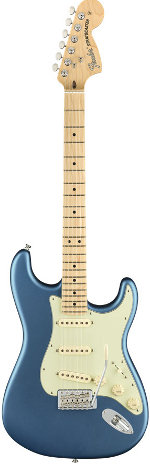 STRATOCASTER AMERICAN PERFORMER LAKE PLACID BLUE TOUCHE ERABLE FENDER USA