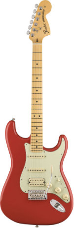 STRATOCASTER AMERICAN SPECIAL STRATOCASTER HSS MN FIESTA RED FENDER USA