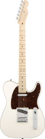 TELECASTER AMERICAN DE LUXE OLYMPIC PEARL TOUCHE ERABLE + ETUI FENDER USA