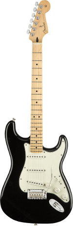 STRATOCASTER PLAYER BLACK TOUCHE ERABLE FENDER