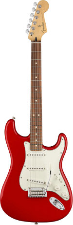 STRATOCASTER PLAYER SONIC RED TOUCHE PAU FERRO FENDER