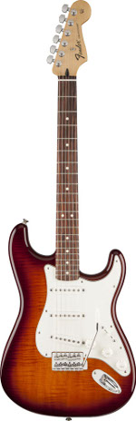 STRATOCASTER STANDARD PLUS TOP TOBACCO SUNBURST FENDER