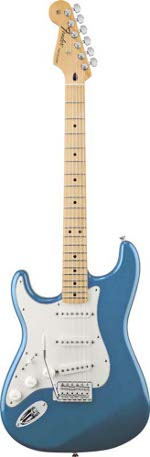 STRATOCASTER MEXICAN STANDARD GAUCHER LAKE PLACID BLUE TOUCHE ERABLE FENDER