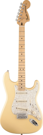 STRATOCASTER DELUXE ROADHOUSE VINTAGE WHITE TOUCHE ERABLE FENDER