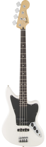 JAGUAR BASS MEXICAN STANDARD PF OLYMPIC WHITE FENDER