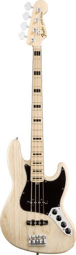 JAZZ BASS AMERICAN DELUXE NATUREL MAPLE Basse FENDER USA