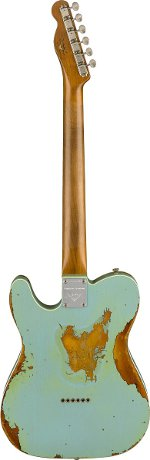 TELECASTER 1962 HEAVY RELIC DAPHNE BLUE OVER 3 TONS SUNBURST