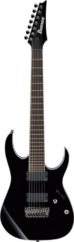 GUITARE ELECTRIQUE RGIR27FE 7 CORDES BLACK IRON LABEL BLACK IBANEZ