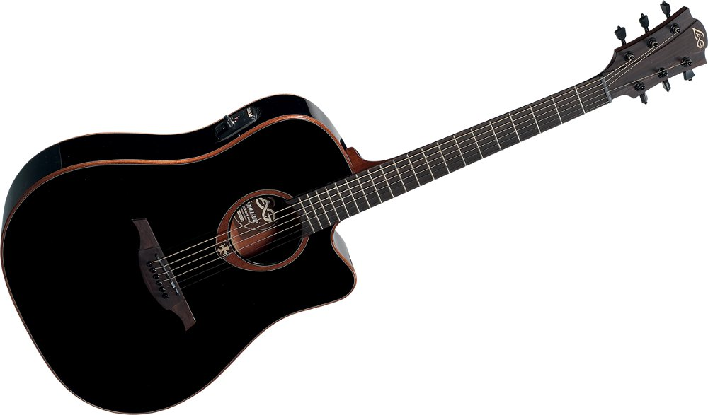 lag guitare guitare electro acoustique t100dce blk. Black Bedroom Furniture Sets. Home Design Ideas