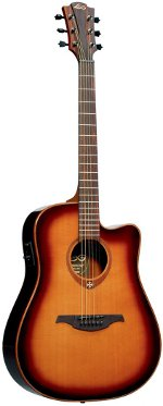 GUITARE ELECTRO-ACOUSTIQUE T100DCE-BRS TRAMONTANE BROWN SHADOW LAG