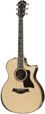GUITARE ELECTRO-ACOUSTIQUE 814CE DELUXE GRAND AUDITORIUM V-CLASS BRACING 2018 TAYLOR