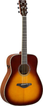 GUITARE ELECTRO-ACOUSTIQUE FG TRANSACOUSTIC BROWN SUNBURST YAMAHA