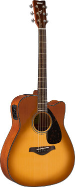 GUITARE ELECTRO-ACOUSTIQUE FGX800CSDB SAND BURST CUTAWAY YAMAHA